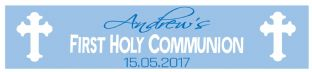 Personalised Boy White Cross Communion Banner